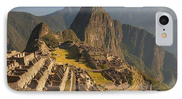 Machu Picchu At Dawn Near Cuzco Peru Phone Case by Colin Monteath