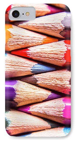 Macro Coloured Pencil Crossover IPhone Case by Jorgo Photography - Wall Art Gallery