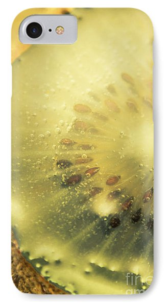 Macro Shot Of Submerged Kiwi Fruit IPhone Case by Jorgo Photography - Wall Art Gallery