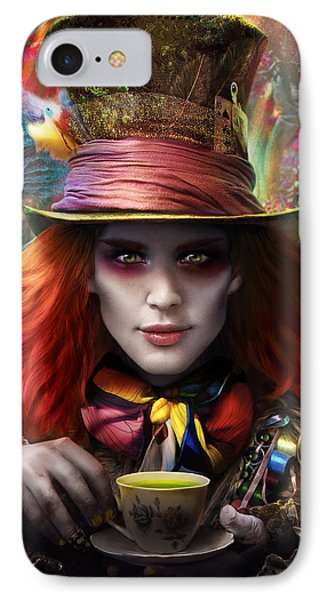 Mad As A Hatter IPhone Case by Omri Koresh