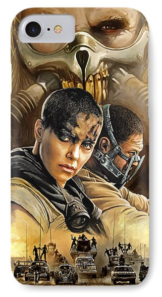 Mad Max Fury Road Artwork IPhone Case by Sheraz A