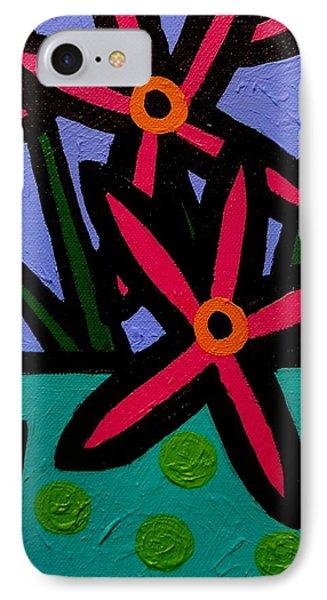 Magenta Flowers Phone Case by John  Nolan