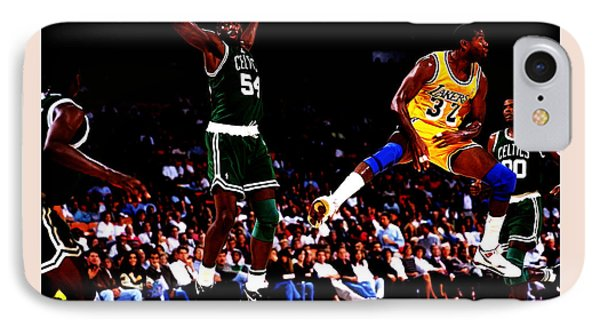 Magic Johnson No Look Pass 7a IPhone Case by Brian Reaves