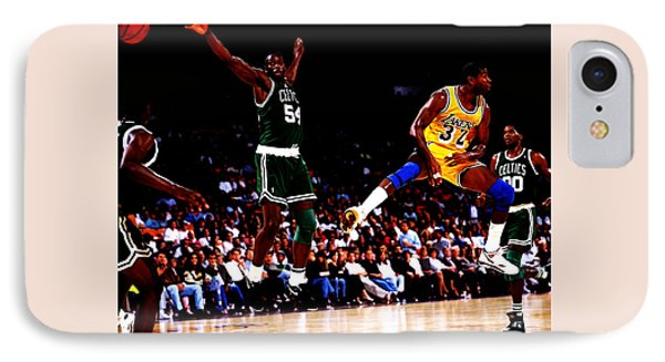 Magic Johnson No Look Pass 7a IPhone 7 Case by Brian Reaves