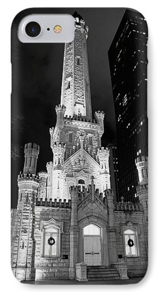 Magnificent Mile Old Water Tower - Chicago IPhone Case by Daniel Hagerman