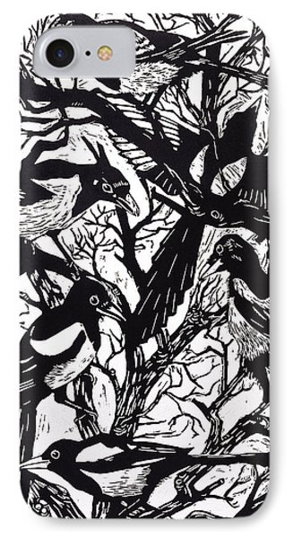 Magpies IPhone 7 Case by Nat Morley