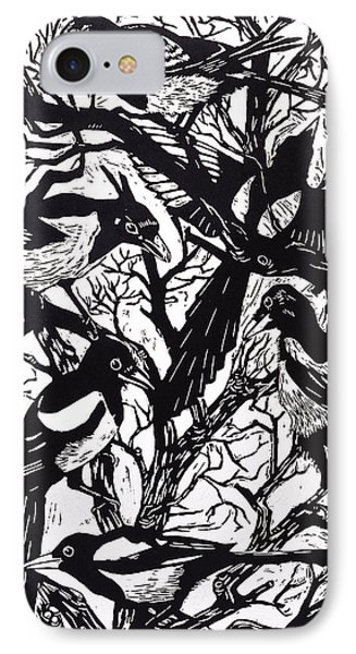 Magpies IPhone Case by Nat Morley