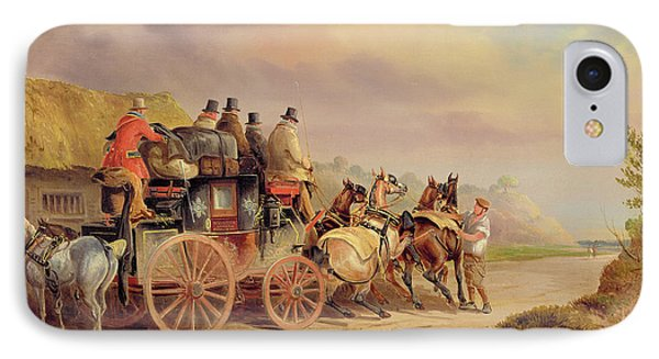 Mail Coaches On The Road - The 'quicksilver'  Phone Case by Charles Cooper Henderson