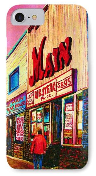 Main Steakhouse Blvd.st.laurent Phone Case by Carole Spandau