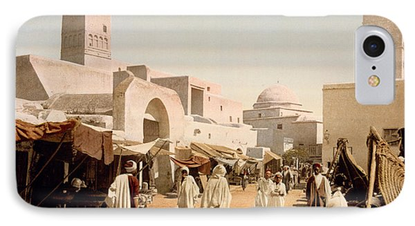 Main Street And Mosque IPhone Case by Celestial Images