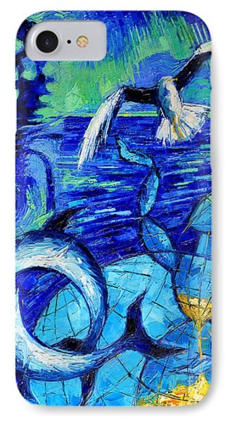 Majestic Bleu IPhone Case by Mona Edulesco