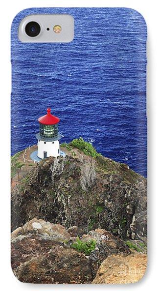 Makapuu Lighthouse II Phone Case by Brandon Tabiolo - Printscapes