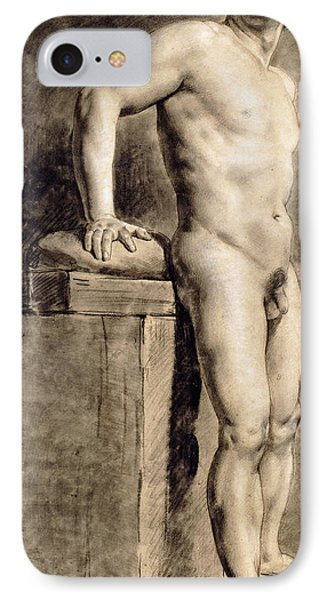 Male Academy Figure IPhone Case by Ferdinand Victor Eugene Delacroix