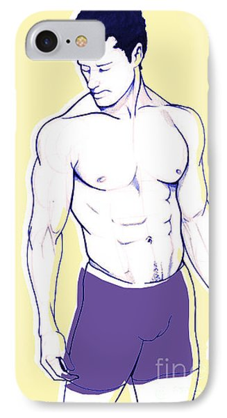 Male Model IPhone Case by Sam  Thorp