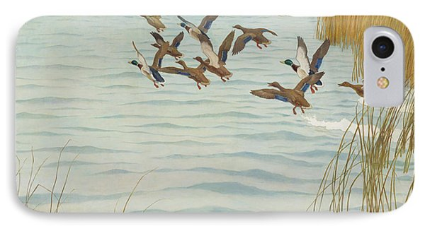 Mallards In Autumn IPhone 7 Case by Newell Convers Wyeth