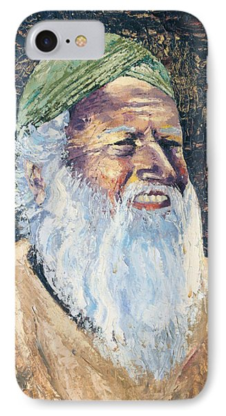 Man In The Green Turban Phone Case by Arline Wagner