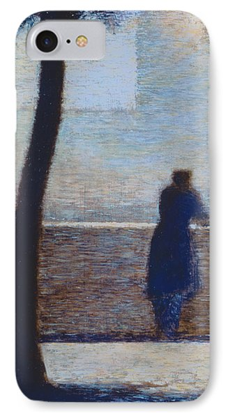 Man Leaning On A Parapet IPhone Case by Georges Pierre Seurat