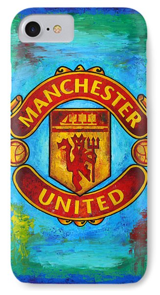 Manchester United Vintage IPhone 7 Case by Dan Haraga