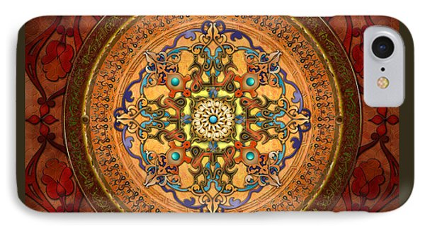 Mandala Arabia IPhone Case by Bedros Awak