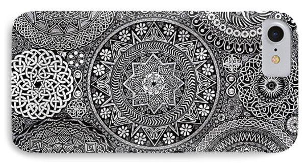 Mandala Bouquet IPhone 7 Case by Matthew Ridgway