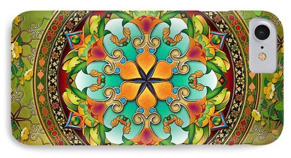 Mandala Evergreen IPhone Case by Bedros Awak