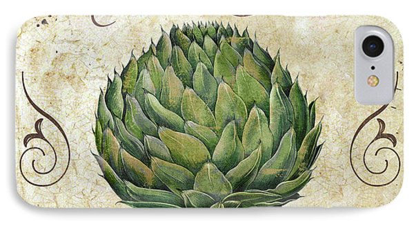 Mangia Artichoke IPhone Case by Mindy Sommers