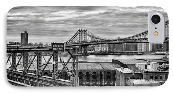 Manhattan Bridge IPhone Case by John Farnan