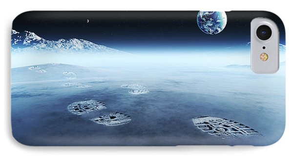 Mankind Exploring Space IPhone Case by Johan Swanepoel