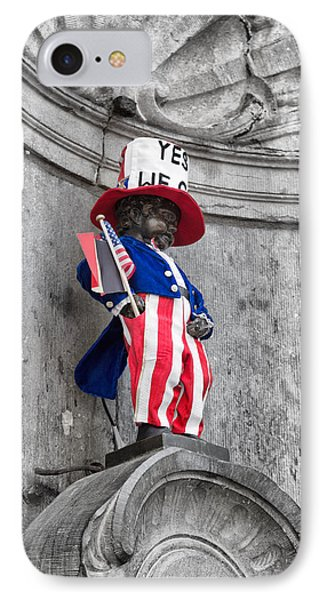 Manneken Pis On The Fourth Of July IPhone Case by Georgia Fowler