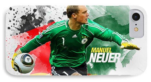 Manuel Neuer IPhone 7 Case by Semih Yurdabak