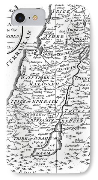 Map Of Canaan Showing The Twelve Tribes IPhone Case by English School