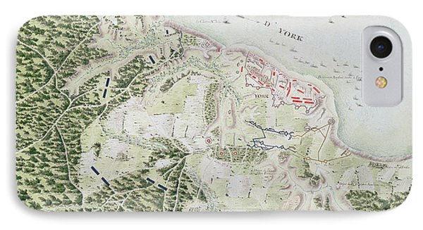 Map Of The Siege Of York IPhone Case by F Dubourg