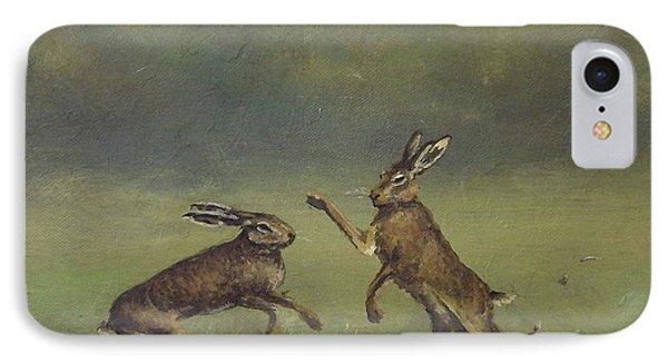 March Hares IPhone Case by Sean Conlon