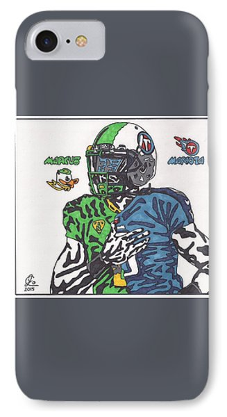 Marcus Mariota Crossover IPhone Case by Jeremiah Colley