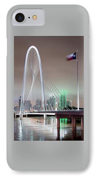 Margaret Hunt Hill Bridge Flag IPhone Case by Rospotte Photography