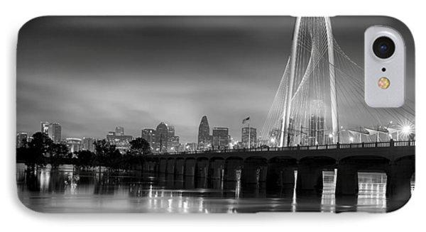 Margaret Hunt Hill Bridge Fog Bw IPhone Case by Rospotte Photography