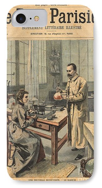 Marie And Pierre Curie In Laboratory IPhone Case by Science Source