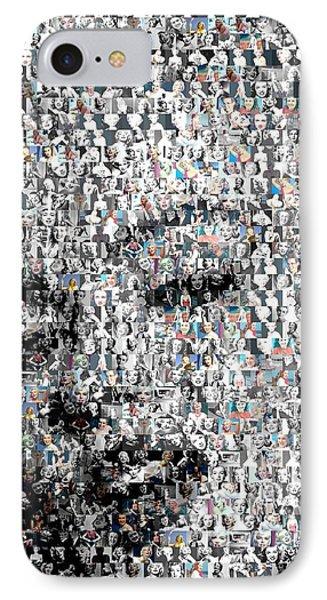 Marilyn Monroe Mosaic Phone Case by Paul Van Scott