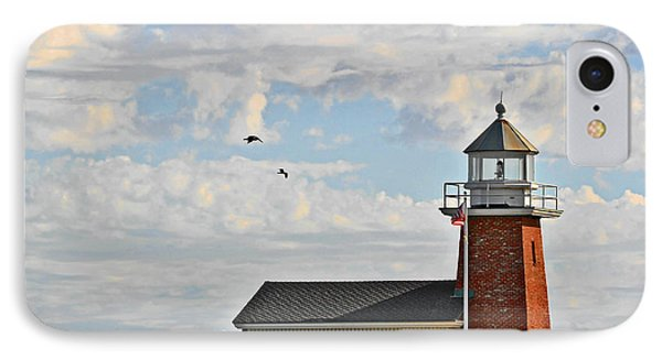 Mark Abbott Memorial Lighthouse  - Home Of The Santa Cruz Surfing Museum Ca Usa IPhone Case by Christine Till