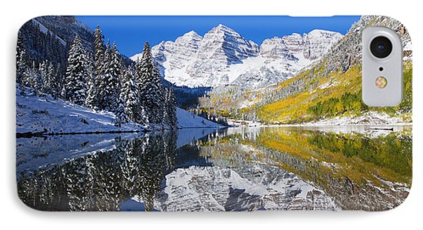 Maroon Lake And Bells 1 Phone Case by Ron Dahlquist - Printscapes