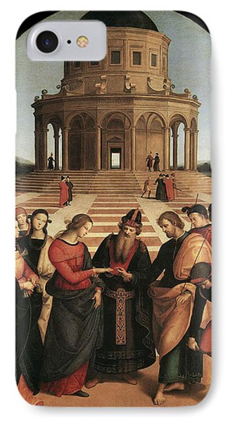 Marriage Of The Virgin - 1504 Phone Case by Raphael