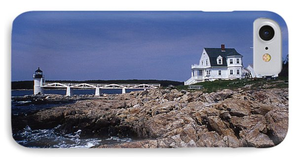 Marshall Point Light Phone Case by Skip Willits
