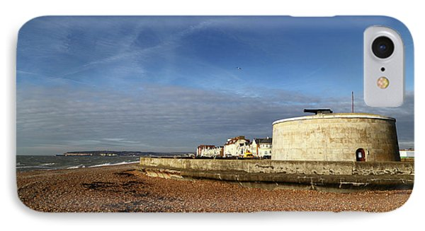 Martello Tower At Seaford Sussex IPhone Case by James Brunker