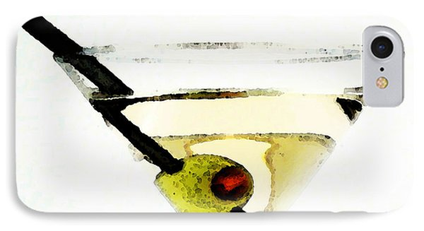 Martini With Green Olive IPhone Case by Sharon Cummings