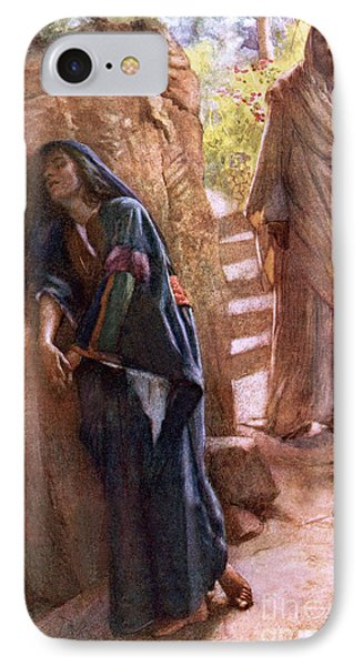 Mary Magdalene At The Sepulchre IPhone Case by Harold Copping