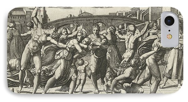 Massacre Of The Innocents IPhone Case by Marcantonio Raimondi