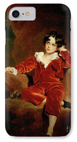 Master Charles William Lambton IPhone Case by Sir Thomas Lawrence