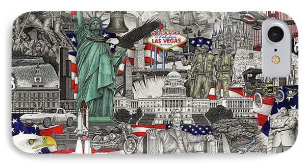 Masterpiece America IPhone Case by Omoro Rahim