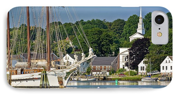 Masts On The Mystic River IPhone Case by Susan Cole Kelly