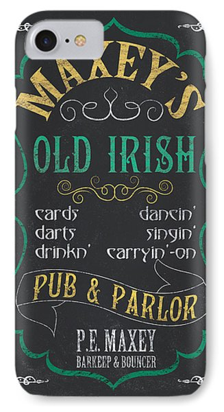 Maxey's Old Irish Pub IPhone 7 Case by Debbie DeWitt